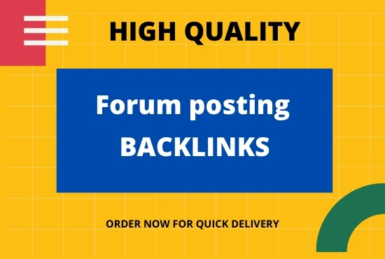 I will provide forum posting backlinks of high authority SEO