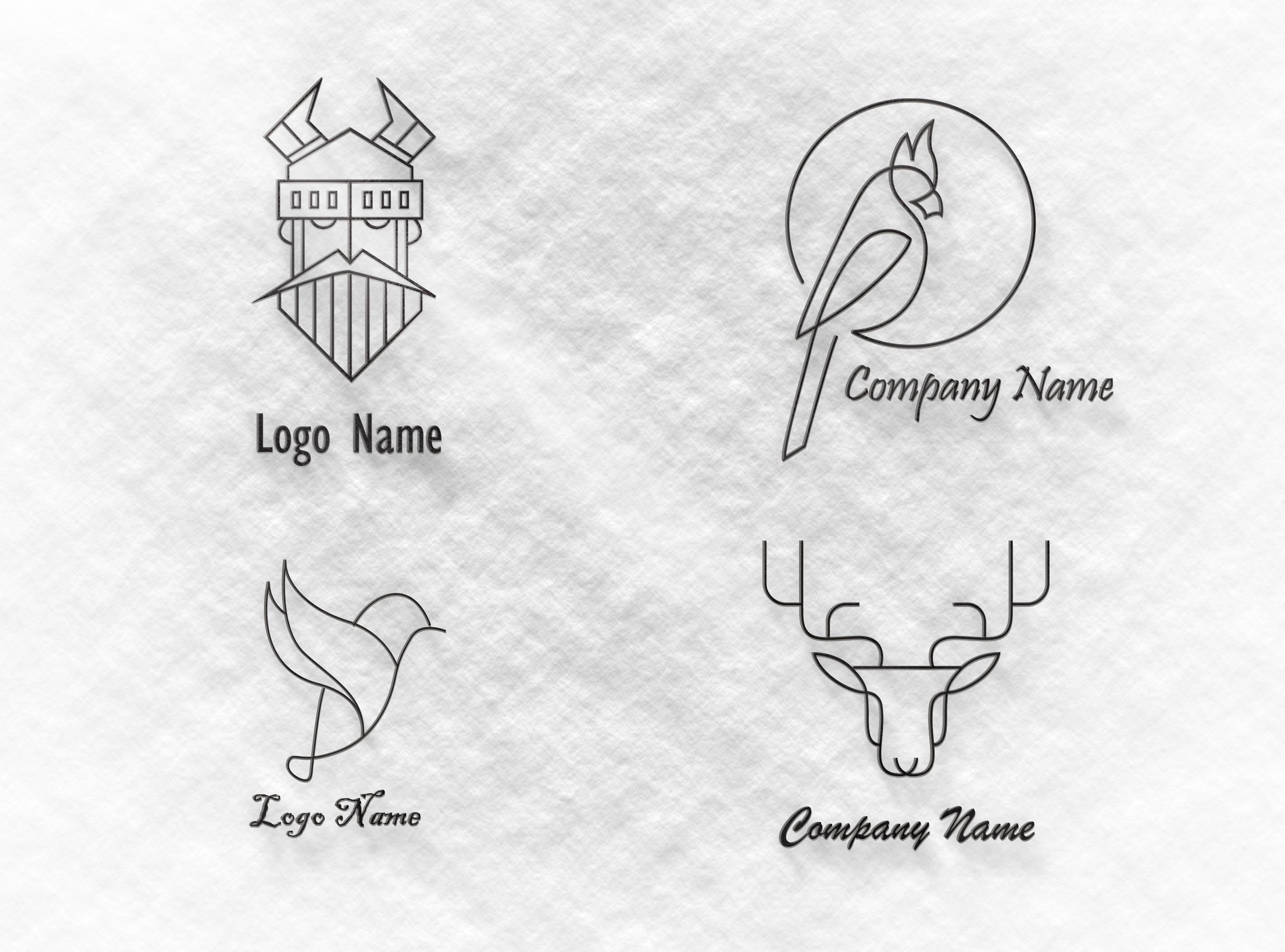 I will design single line art logo