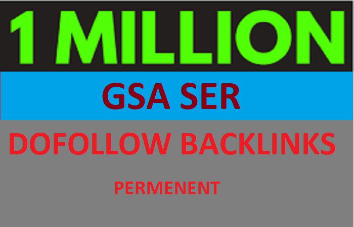I will build 1 million GSA SER Backlinks