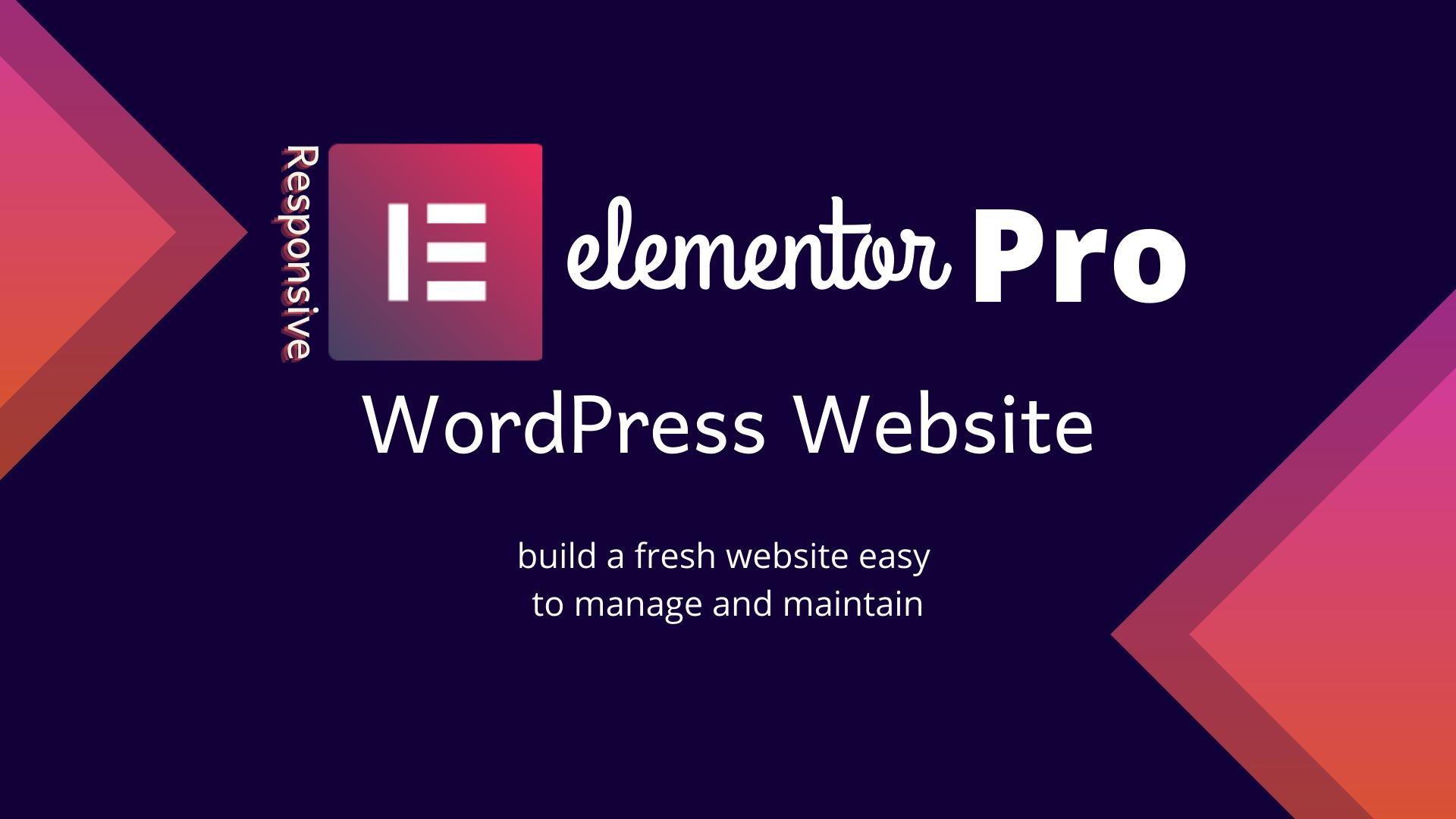 create a premium wordpress website using elementor pro