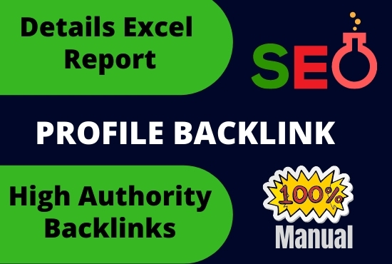 I will do high authority profile backlinks to rank your website seo