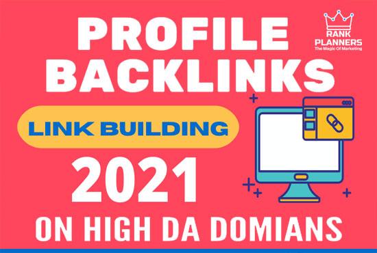 I will do manually 100 plus white hat SEO profile backlinks