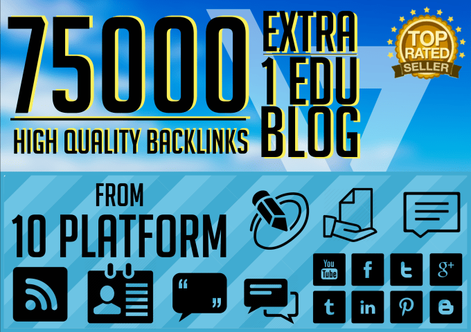 do 7500 backlinks blaster from 5 platforms to your website for google seo