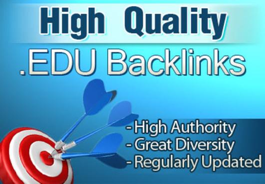 manually create 15 powerful backlinks from edu domain...