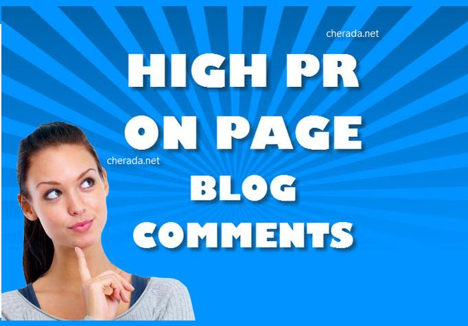 Provide 15 High PR actual page backlinks using Blog comments.