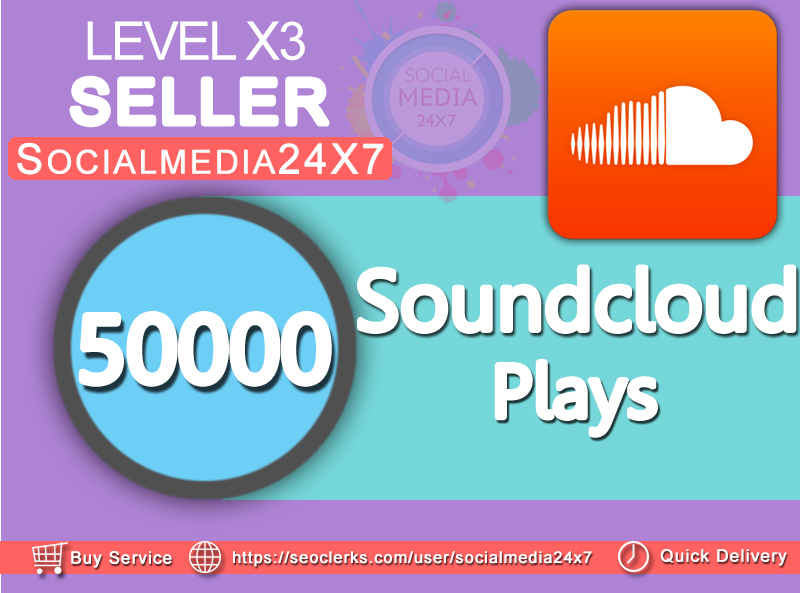 Add 50000 soundcloud+500 likes  on your soundcloud track within 24-72 hrs