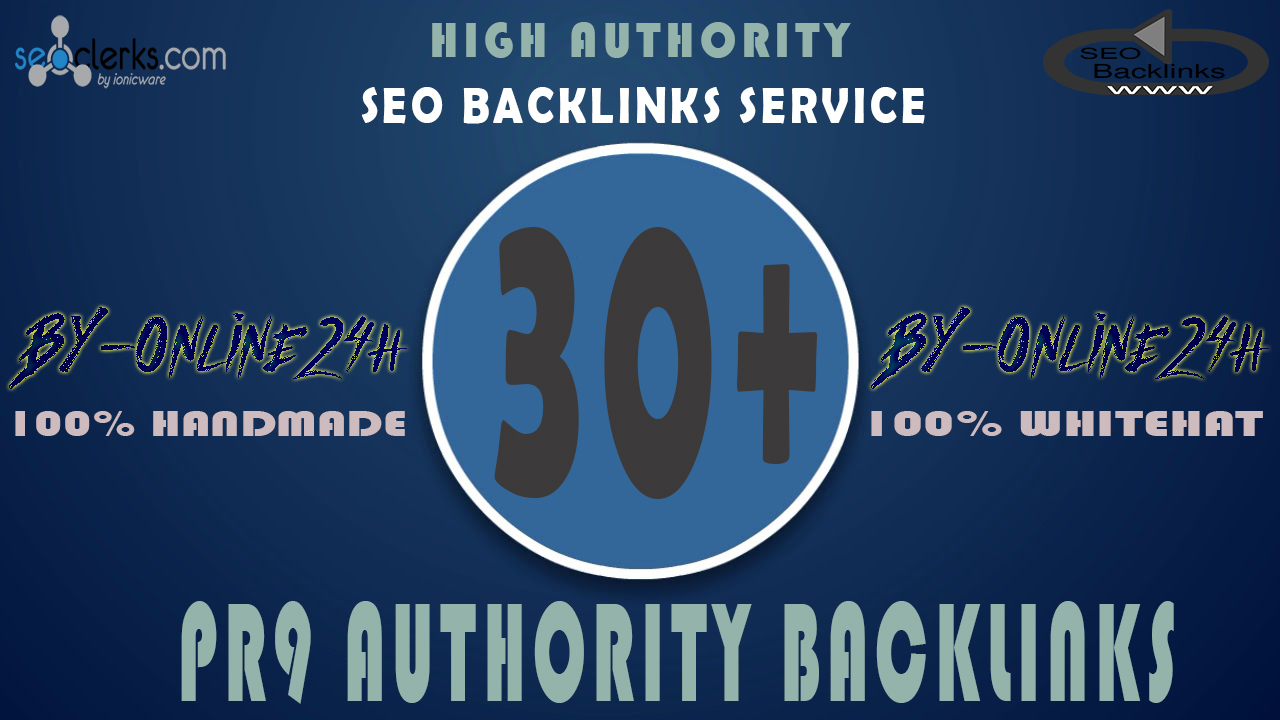 30+ PR9  Backlinks From Authority Domains only