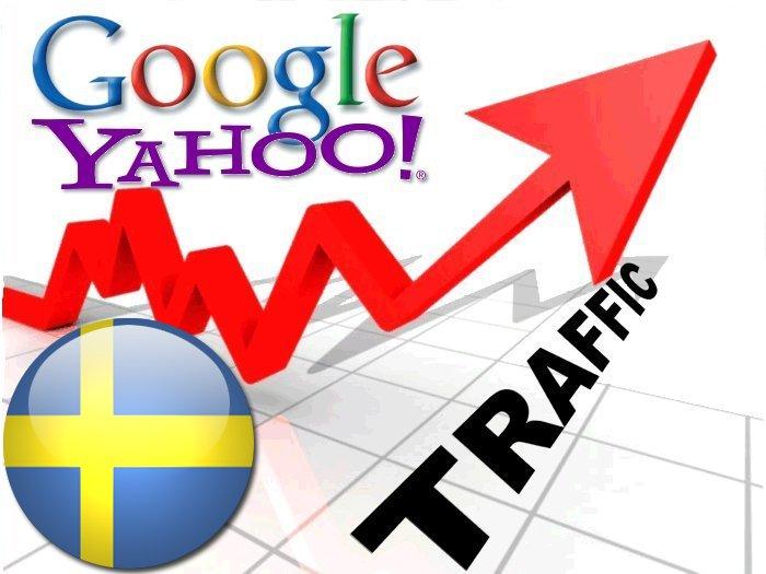 Organic traffic from Google.se + Yahoo Sverige
