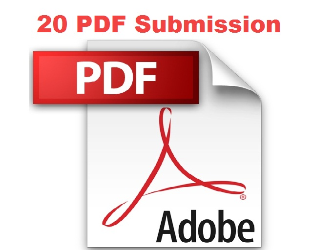 20 PDF submissions using your document file better for seo