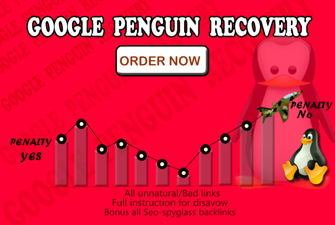 I WILL IDENTIFY,  ANALYZE AND REMOVE ALL BAD BACKLINKS AND DISAVOW FOR GOOGLE HUMMINGBIRD RECOVERY