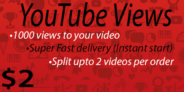 1000+ High Quality Youtube Vie ws Fast delivery