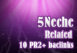 Manual 5 Niche and 10 High PR backlinks Perfect for ranking 100 PERCENT  panda 2.0 safe