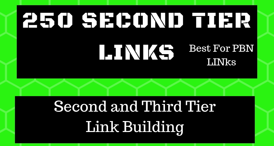 250 Tier 2 Linkbulding Service Profile Links (For PBN or Tier 1)