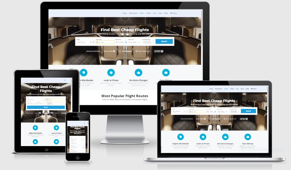 Established Profitable Responsive TRAVEL BOOKING Turnkey Website BUSINESS