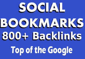 create 800 social bookmark SEO backlinks + ping