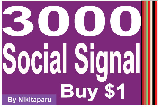 Instant 3000 Social signal to your link