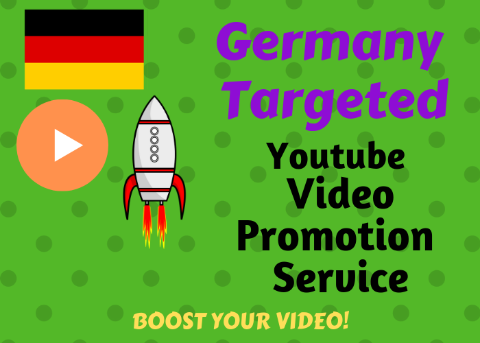 provide you Germany Targeted video Promotion services