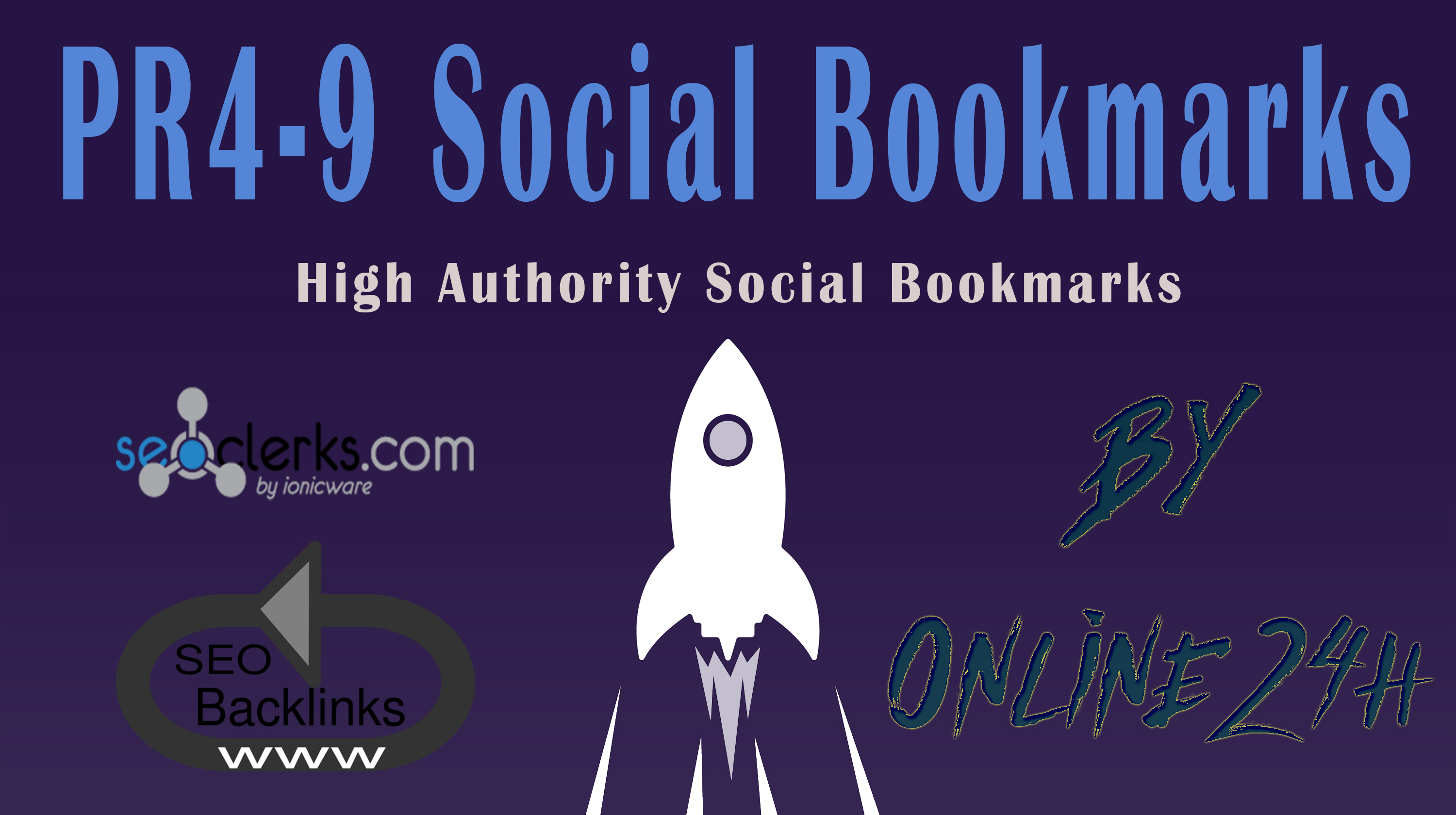 30+ High Authority PR4-9 Social Bookmarks only