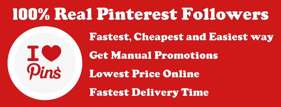 give you 400+ real PINTEREST followers
