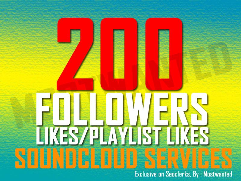 200 SOUNDCLOUD LIKES OR FOLLOWERS