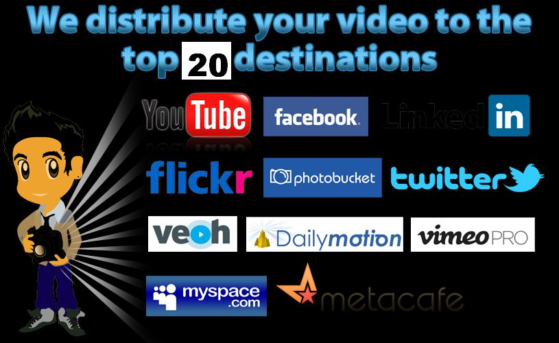 Create 20 Video submissions for your seo