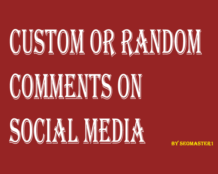SUPER FAST 200+Custom or Random comment