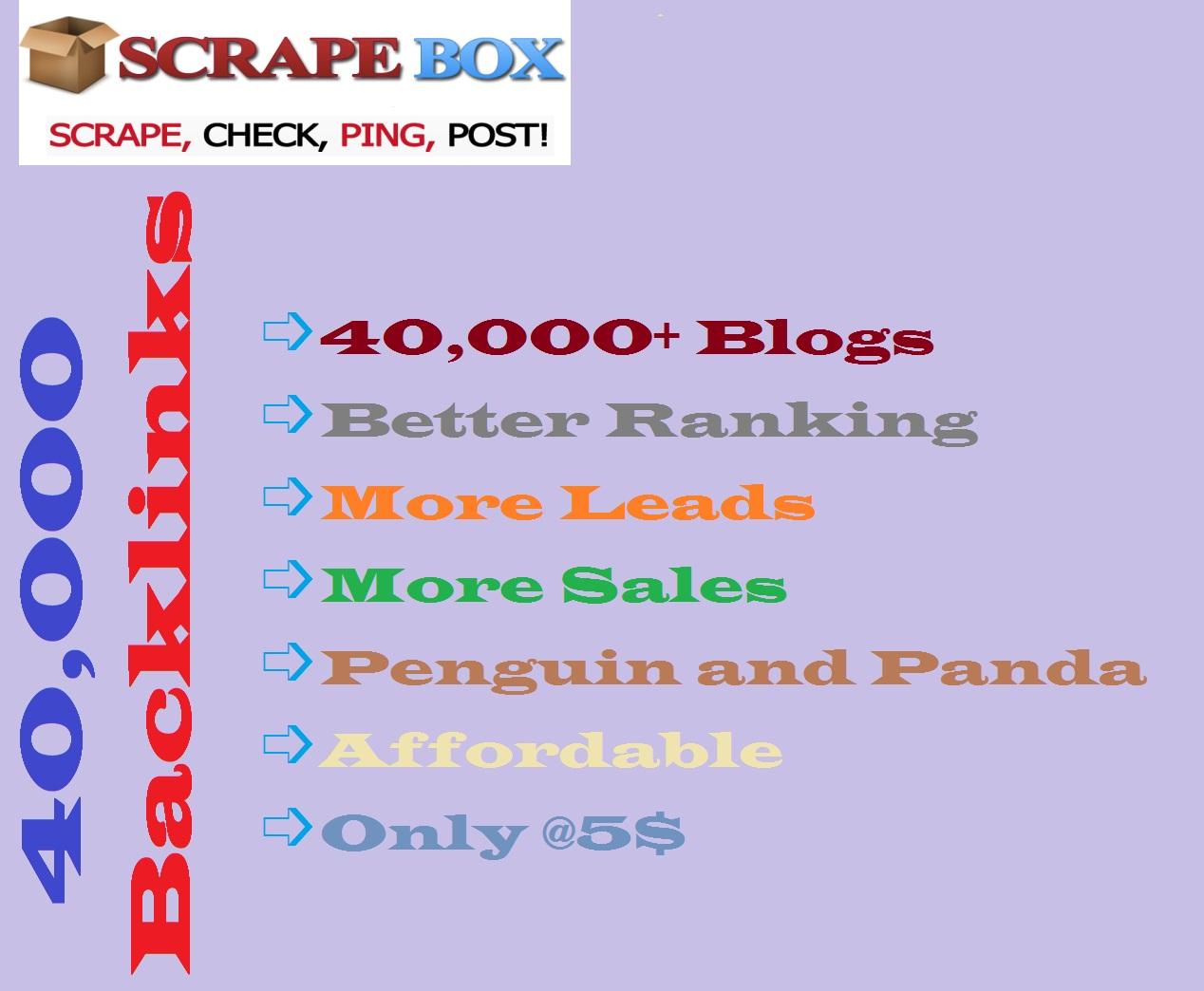 Make 40,000 Blog comments backlinks for your website