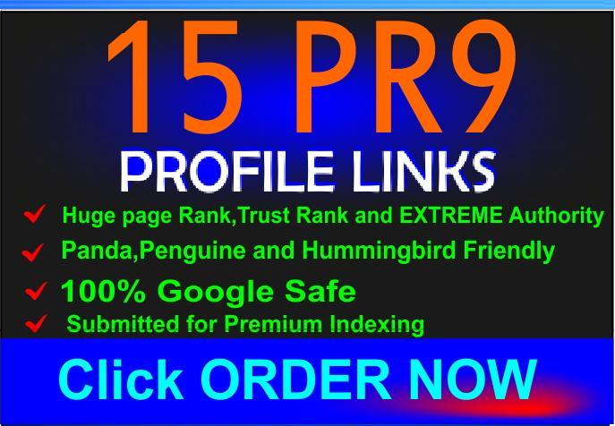 Make 30 PR9 and PR10 backlinks for your website