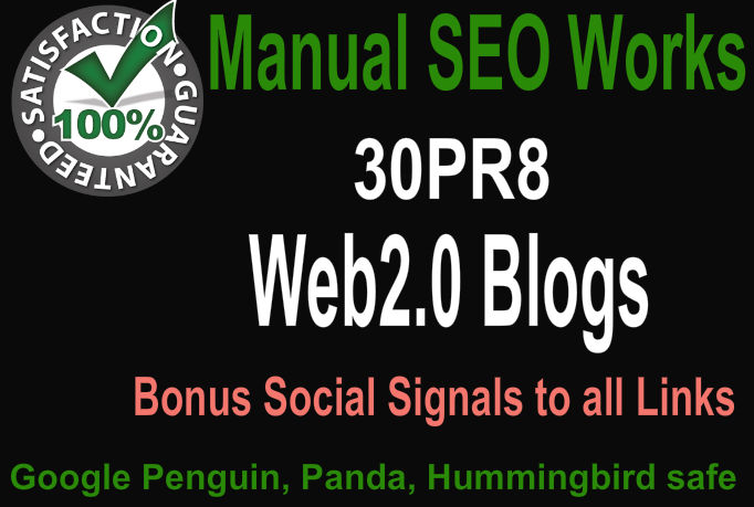 Create Hummingbird Safe 30 PR9 Web2 Blogs with image ...