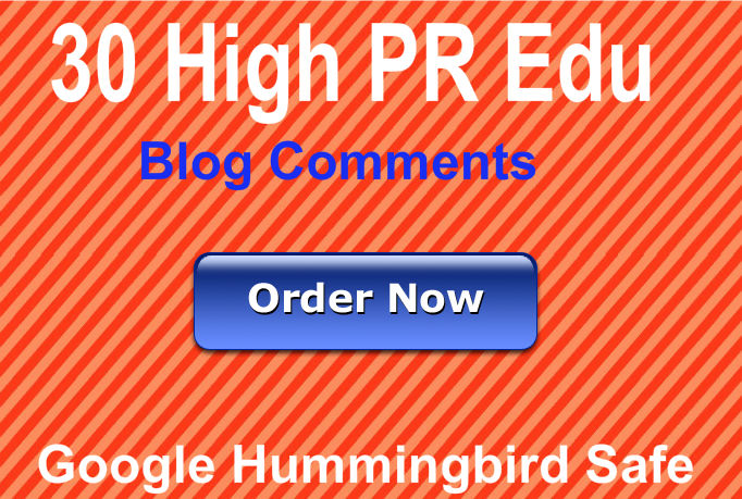 Provide 30 Manual Edu blog comments using High PR act...