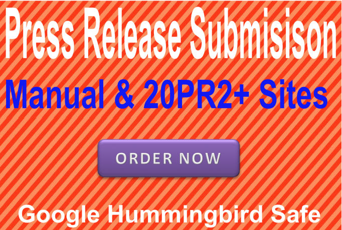Submit Press Release in 20 PR2 or above News submission sites