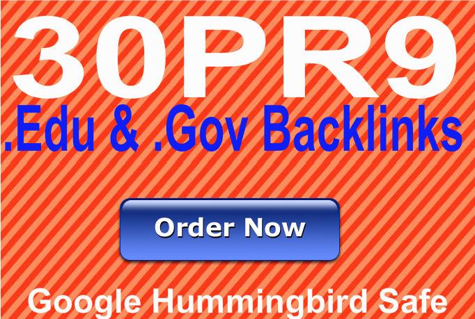 Provide30 PR9 Edu and Gov backlinks from 30 unique PR9 websites best for Seo