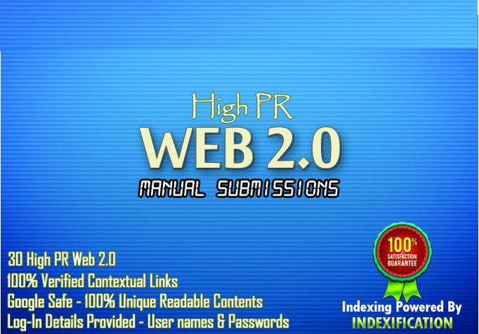 Produce 15 High Pr web2 blogs along with 15 High PR social bookmarking