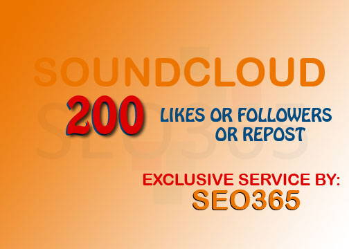 200 SNDCLD FOLLOWERS or 200 LIKES or 200 REPOST