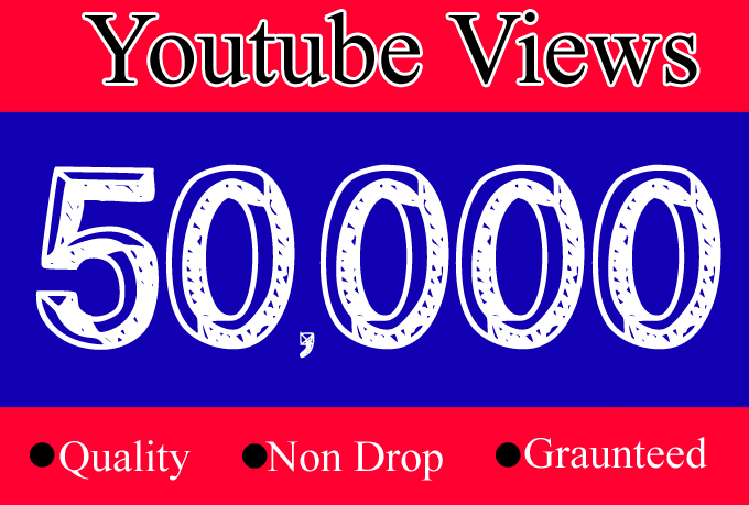 50000 YouTube Views OR 50K Youtube View with 100 Likes