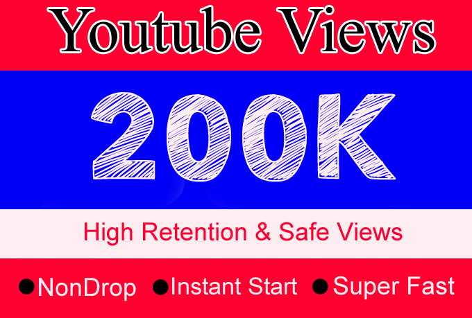 200K YouTube Views with 200 Likes Or 200,000 Or 200000 Youtube Video Views