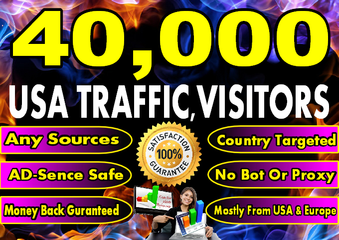 Drive 40,000 USA Website Traffics Visitors in 5 Days