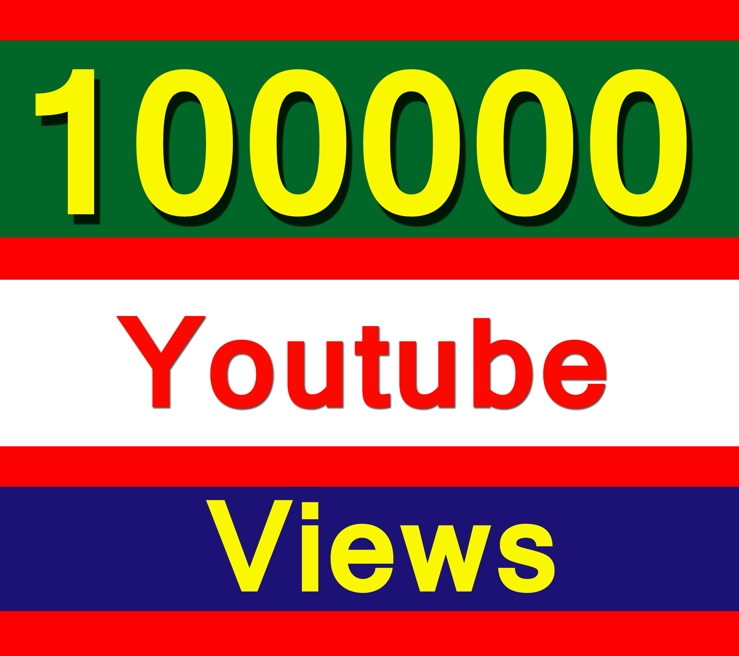 SUPER Fast 100000 YouTube vie ws with 100 Lik es