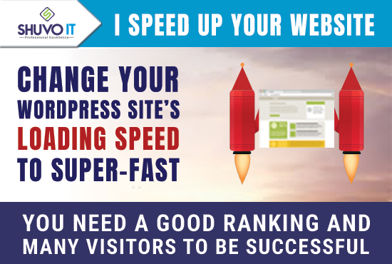 Speed-optimize your WordPress website to be loaded super-fast and drive it to the top in Google