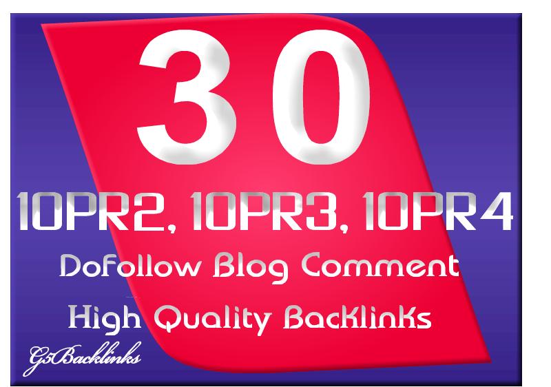 I will give blog comment 10 PR2, 10 PR3, 10 PR4