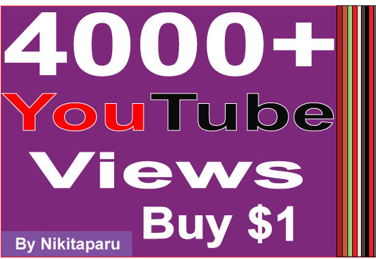 Super Fast HQ 4000+ Non Drop Good retention YouTube Views