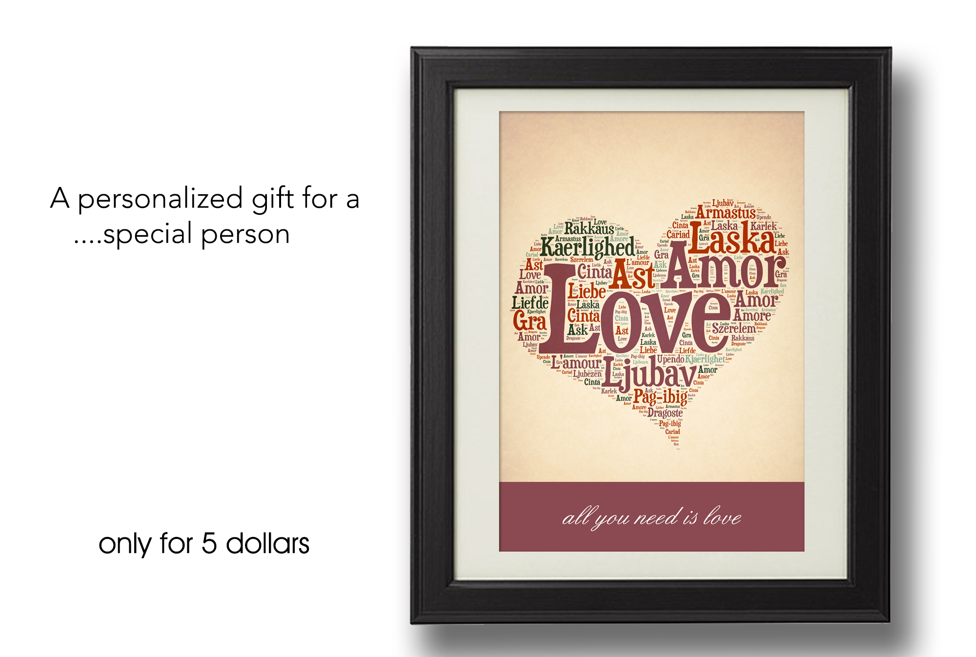 make a personalized gift for a special person