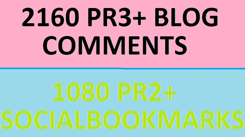 Wil Create 720 PR3+ Blog Commenting Backlinks + 240 P...