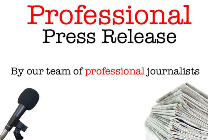 I will write a professional press release and distribute it