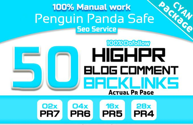 create MANUALLY 50 Seo Backlinks 2PR7 4Pr6 16PR5 28PR4 Blog Commenting DoFollow