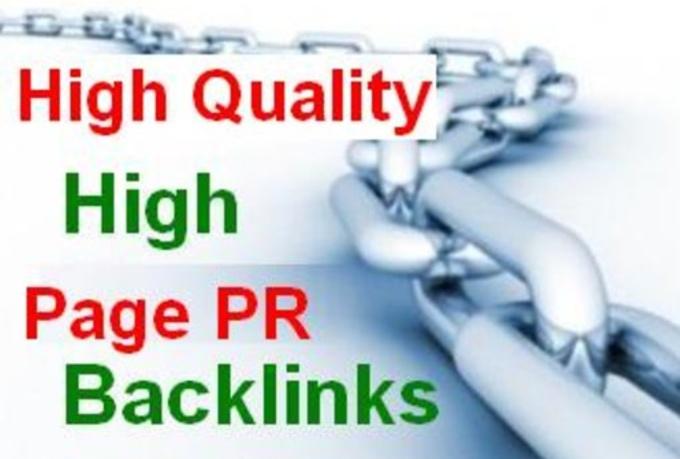 Provide 100 PR1 to PR4 actual page backlinks