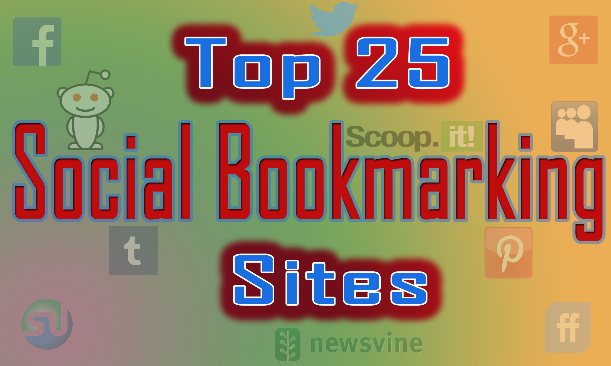 . Instantly Provide you manually 25 Top PR10-5 Social Bookmarks On Your Site with report within 8-10 hrs