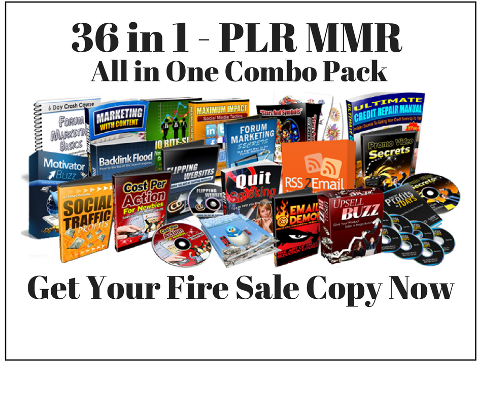 Fire Sale Combo PLR MRR Digital Product Pack