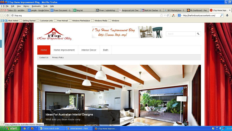 I will post your blog post on my PR2, DA15 Home improvement blog