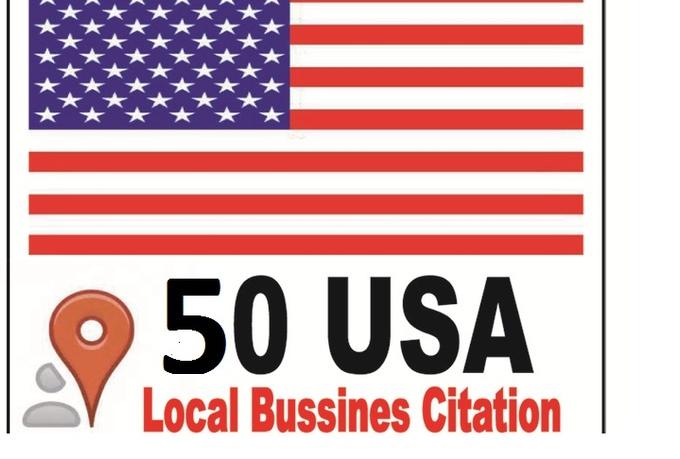 do 50 USA citation for your local business